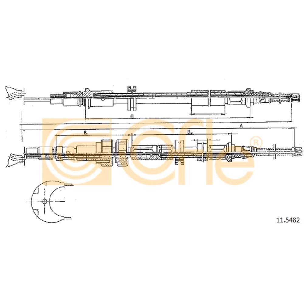COFLE Brake Cable (11 5482)