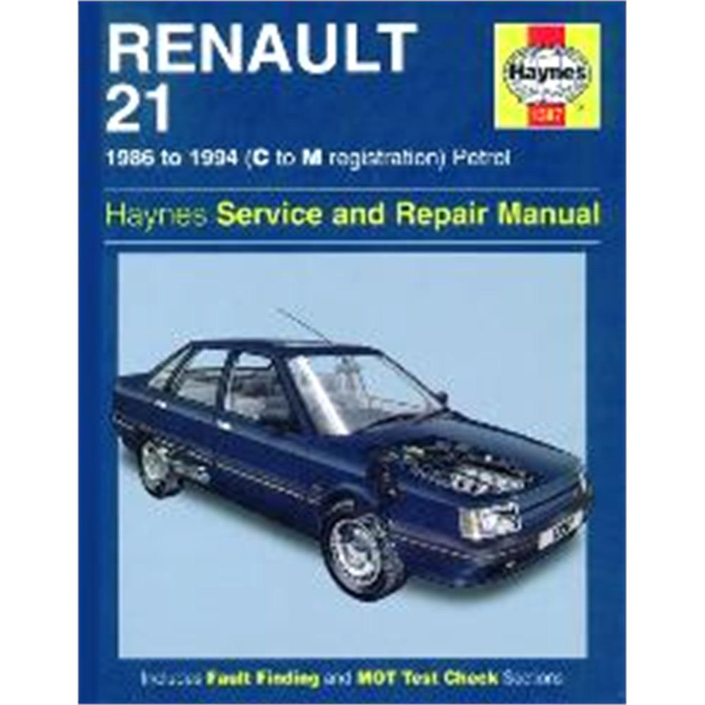 Renault 21 haynes manual petrol 86 94 for micksgarage for Garage renault 94