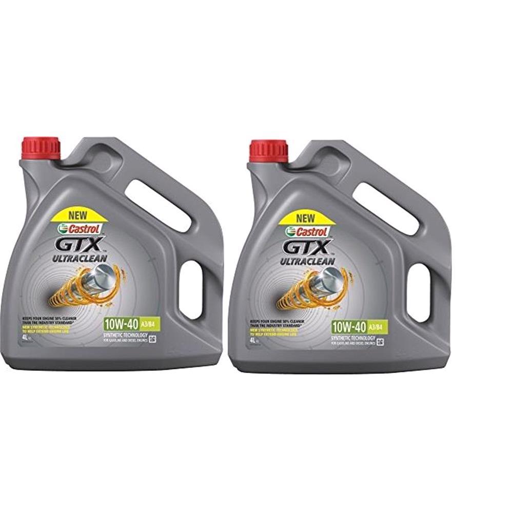 Castrol GTX Ultraclean 10w40 A3/B4 Semi Synthetic Engine Oil. 8 Litre