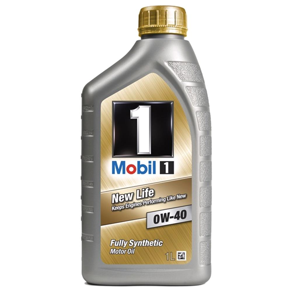 Mobil 1 New Life 0W40 Fully Synthetic Engine Oil.1 Litre