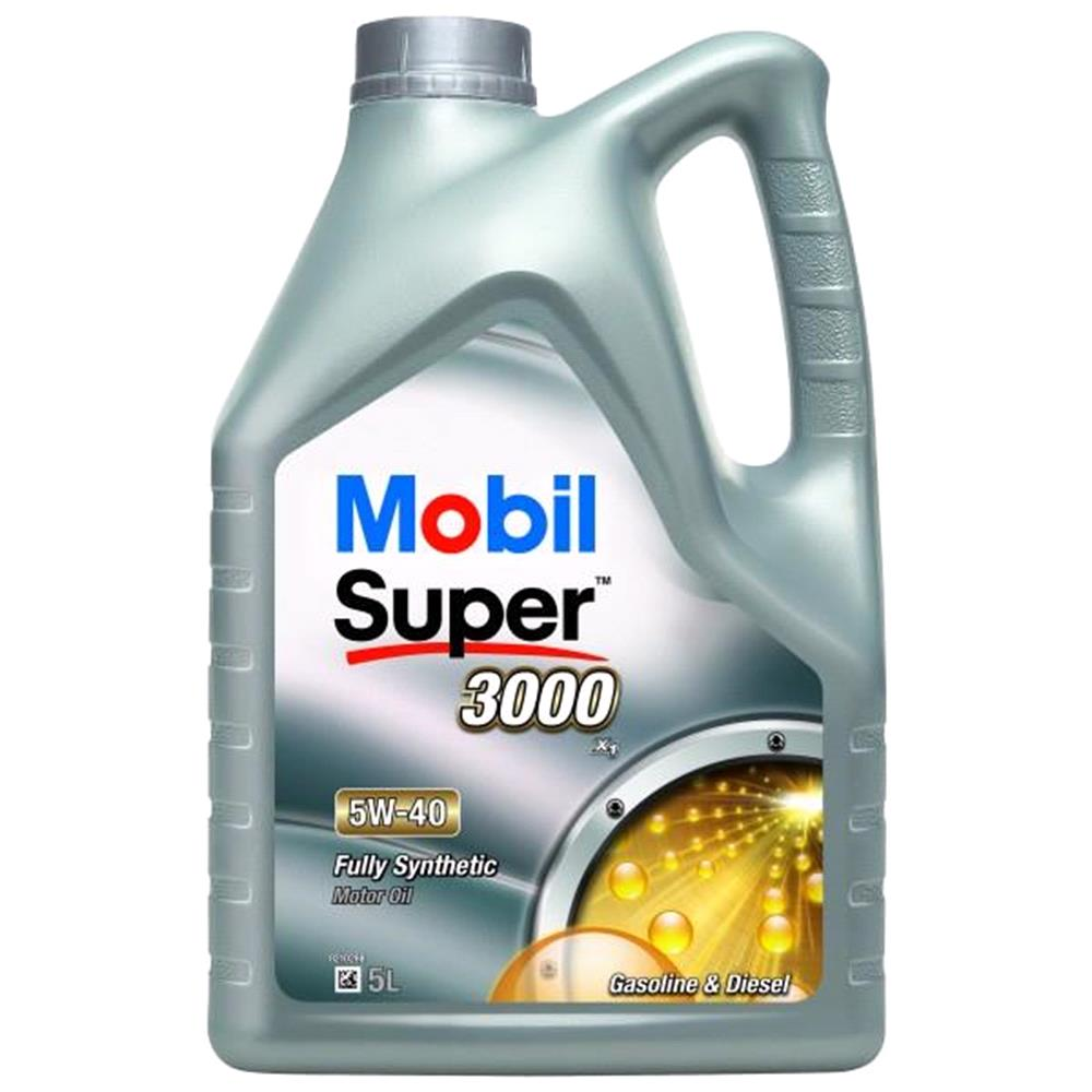 Mobil Super 3000 X1 5W40 Fully Synthetic Engine Oil. 5 Litre