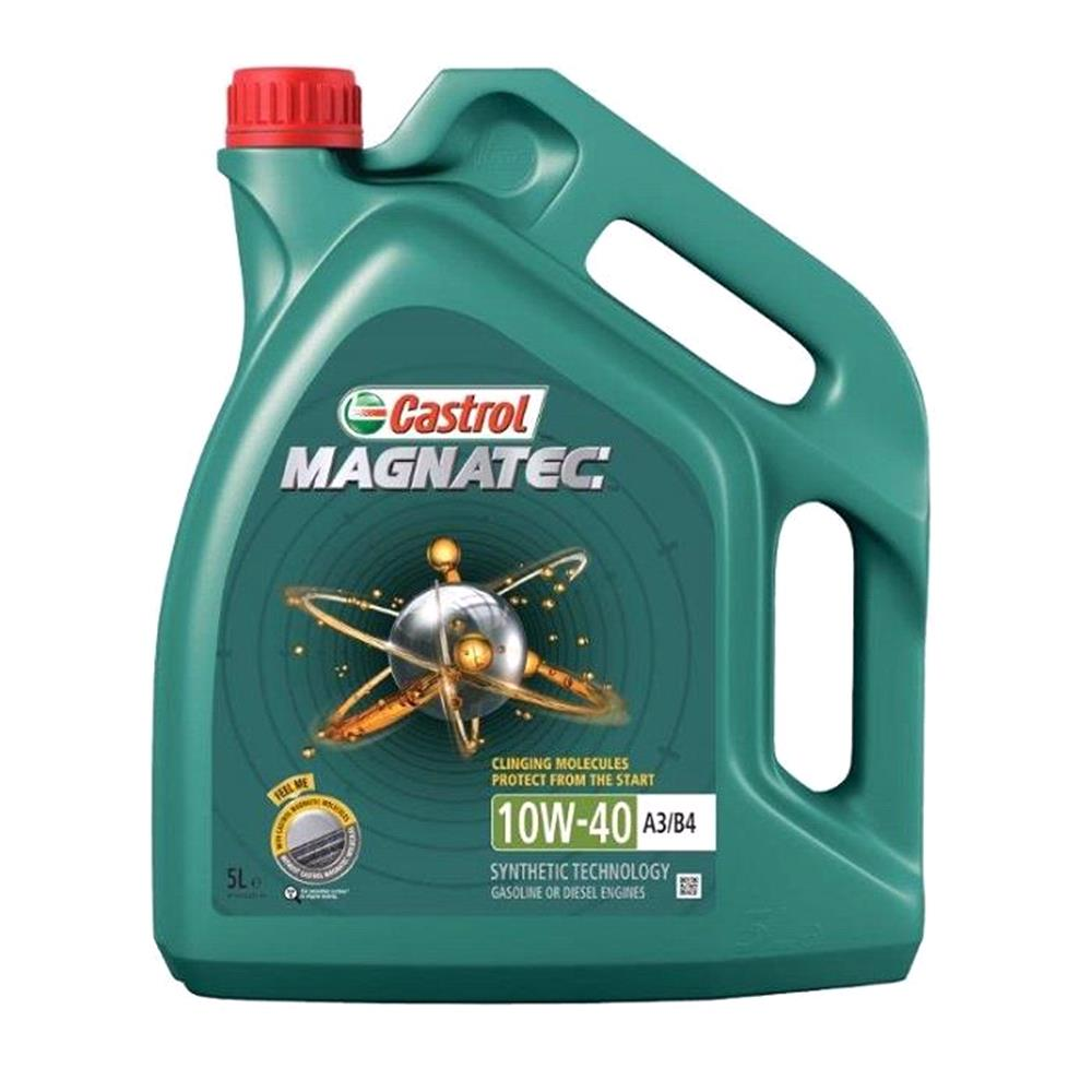 Castrol Magnatec 10W 40 A3 B4 Semi Synthetic Engine Oil. 5 Litre