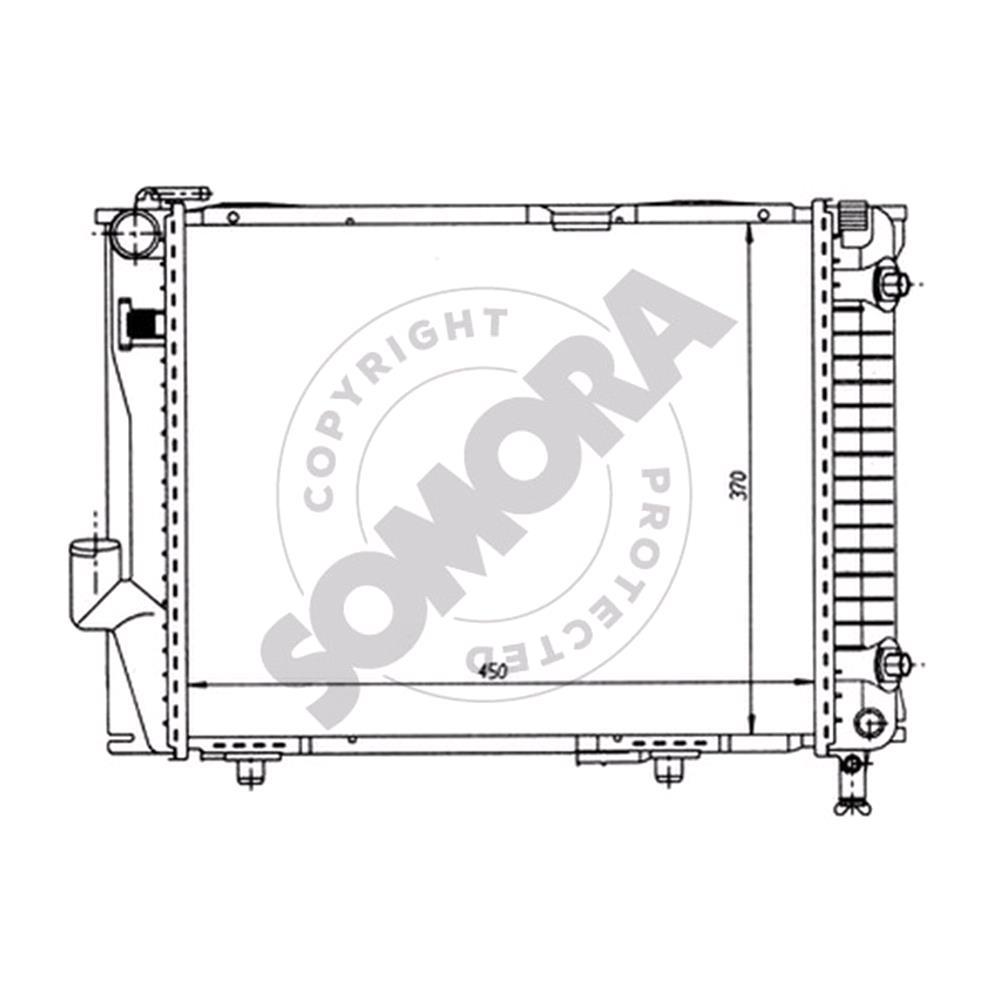 MERCEDES W124 Radiator, 2 6/3 2, Manual / Automatic Gearbox GRP40 RAD  (170444)