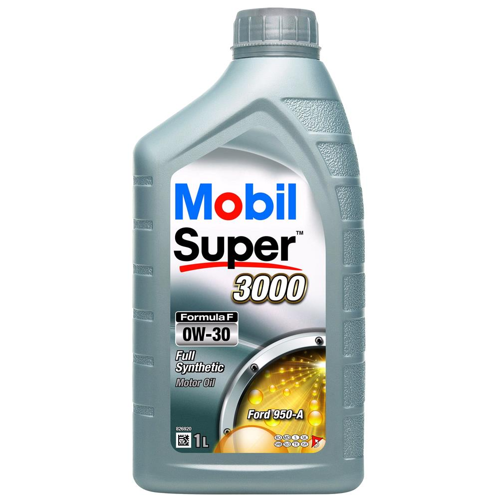 Mobil Super 3000 Formula F 0W 30 Fully Synthetic Engine Oil   1 Litre