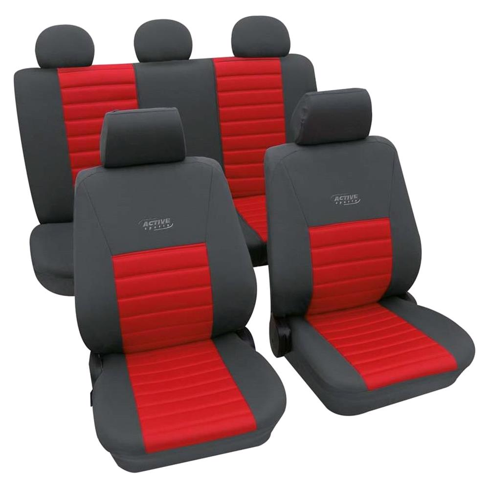 Sports Style Car Seat Covers Grey Red For Ford Ka  Onwards
