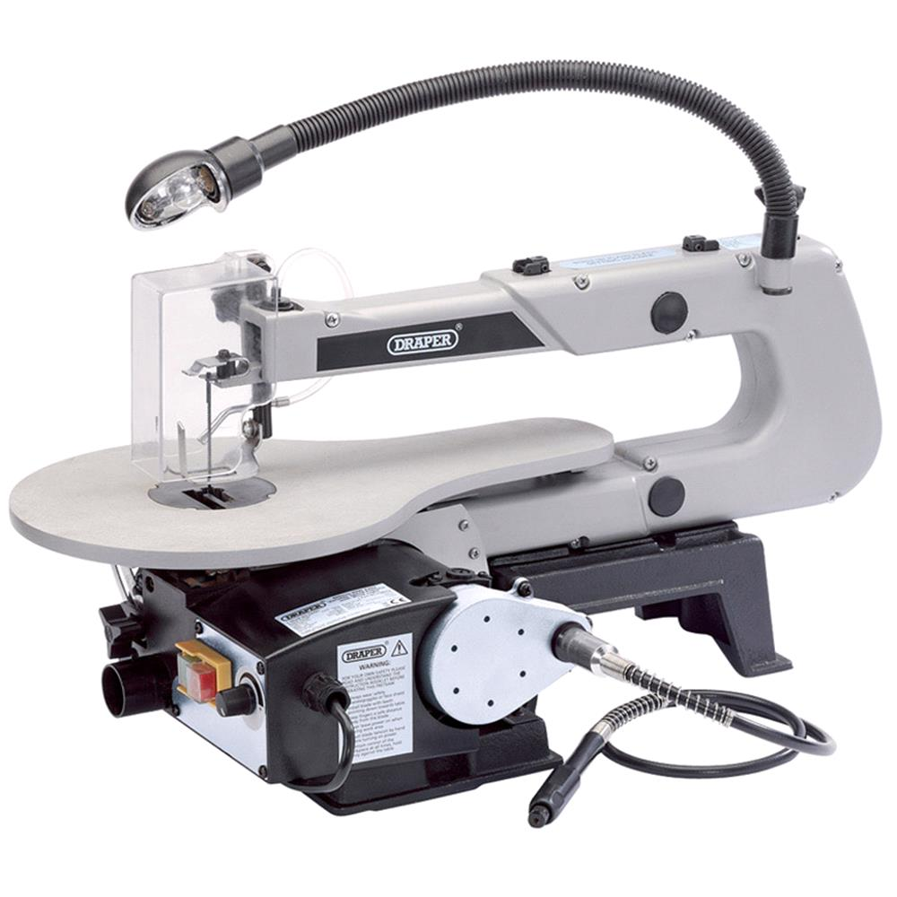 Draper 22791 405mm Variable Speed Fretsaw with Flexible Drive Shaft and Worklight (90W)