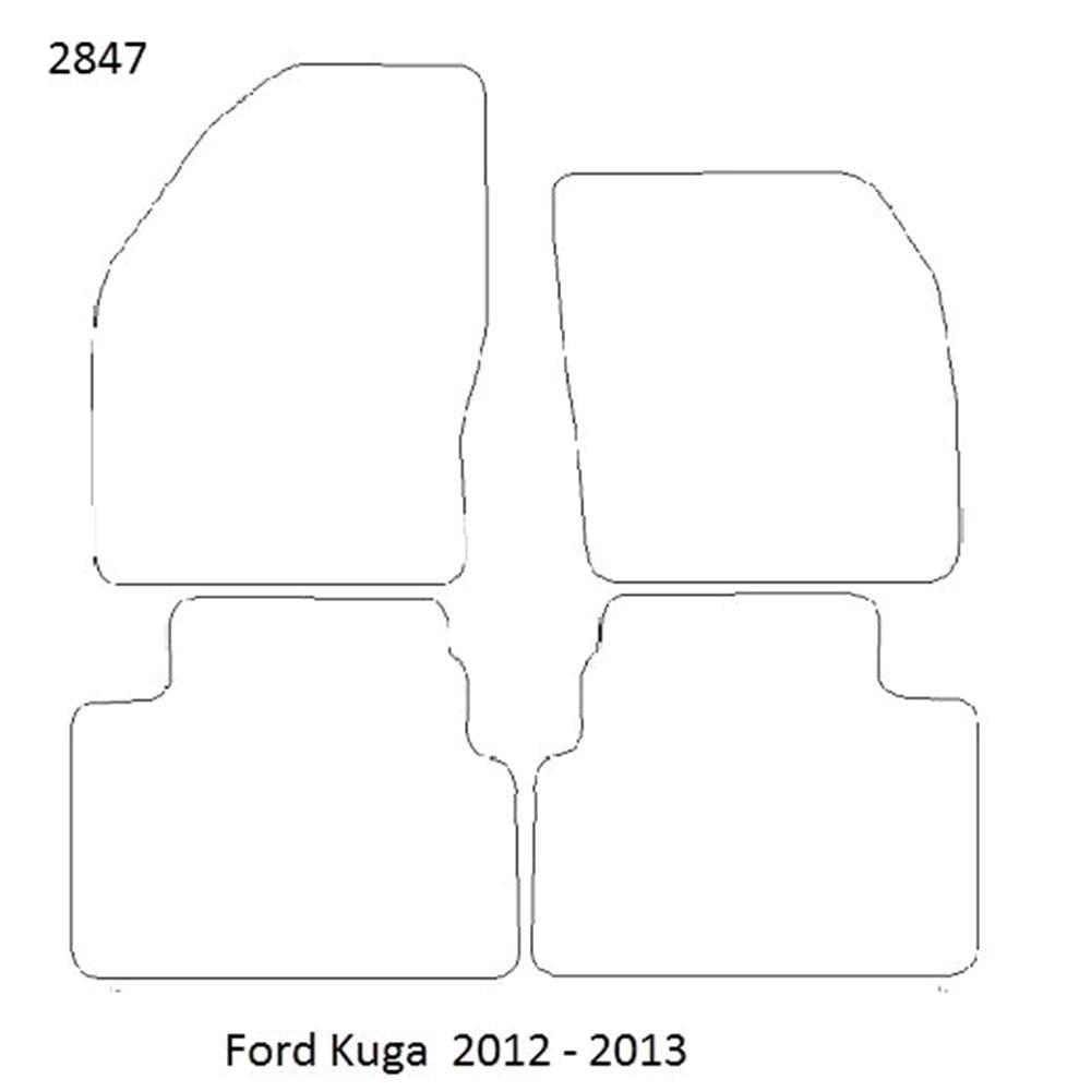 Car Mats For Ford Kuga Micksgarage Fuse Box Fully Tailored Floor 2012 2013 Black