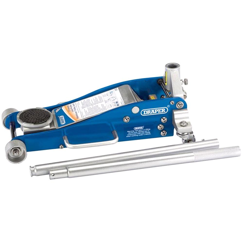 Draper 31479 Aluminium and Steel Trolley Jack (2.5 tonne)