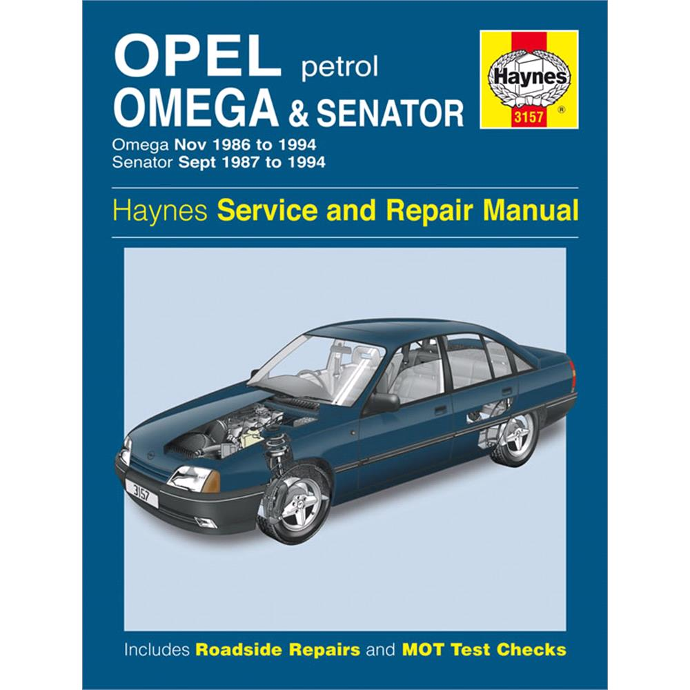 Haynes DIY Workshop Manuals, Haynes Manual Vauxhall Omega and Senator  Petrol (Nov 86 -