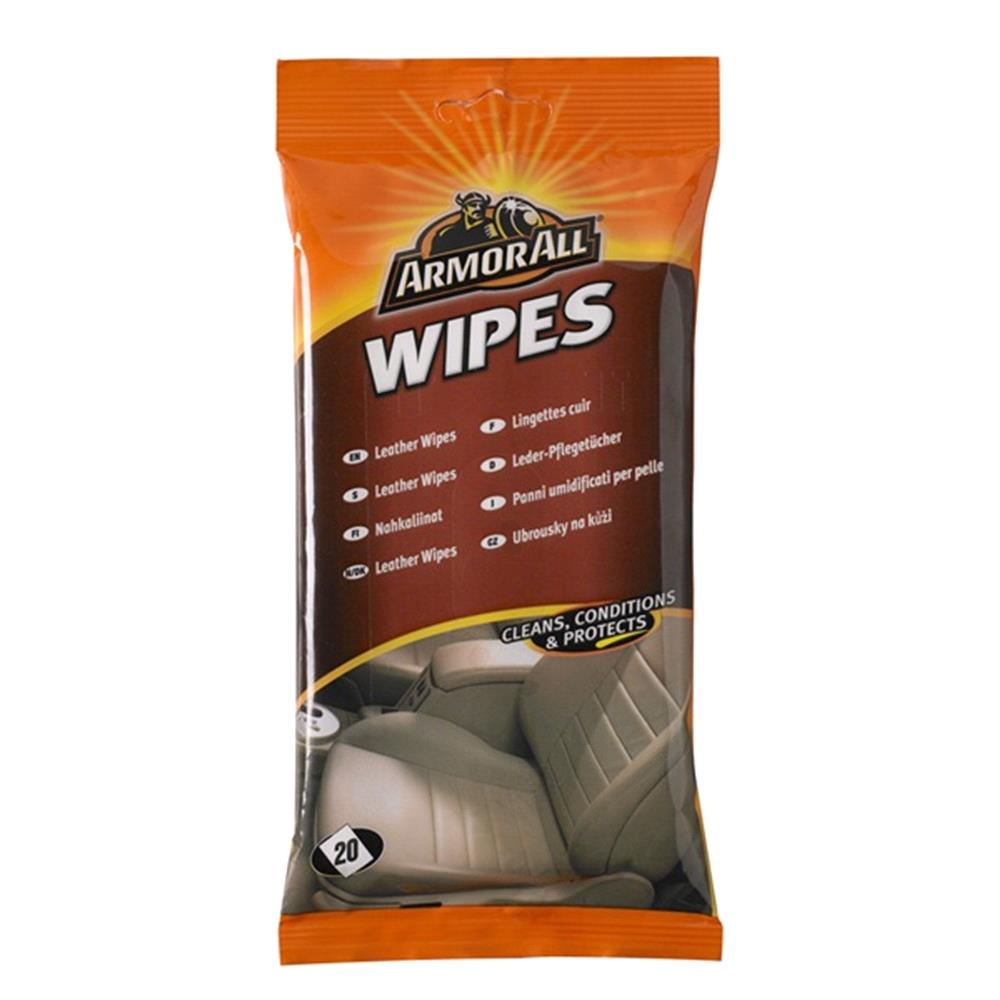 ArmorAll Leather Wipes   Pack of 20
