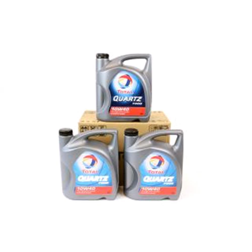 TOTAL Quartz 7000 10w40 Semi Synthetic Engine Oil VALUE PACK 3x5 Litre