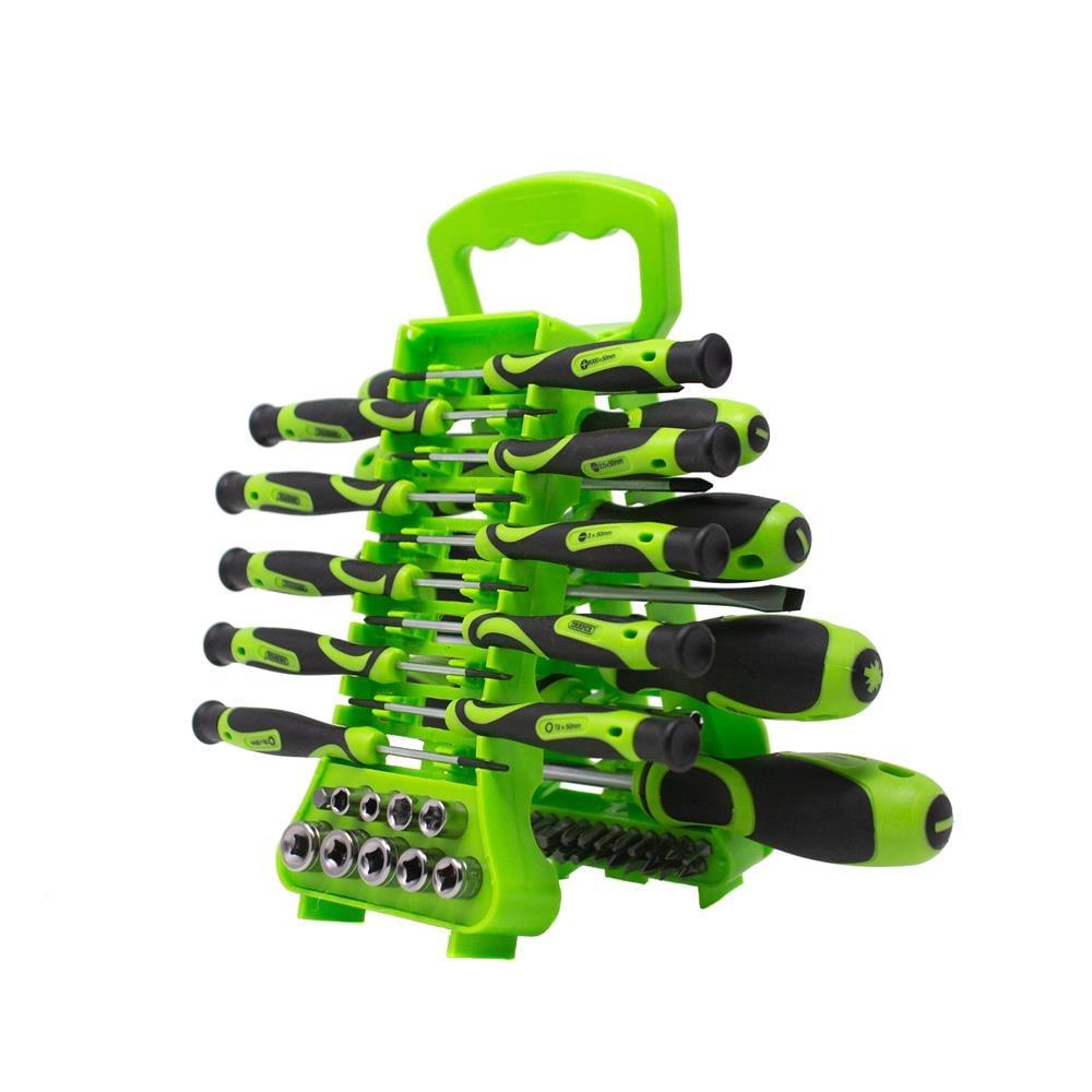 Draper 70385 Soft Grip Screwdriver, Hex Key And Bit Set (49 Piece)
