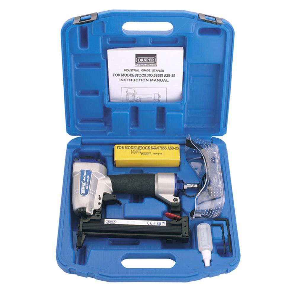 Draper 57555 Air Stapler Kit (8 25mm)