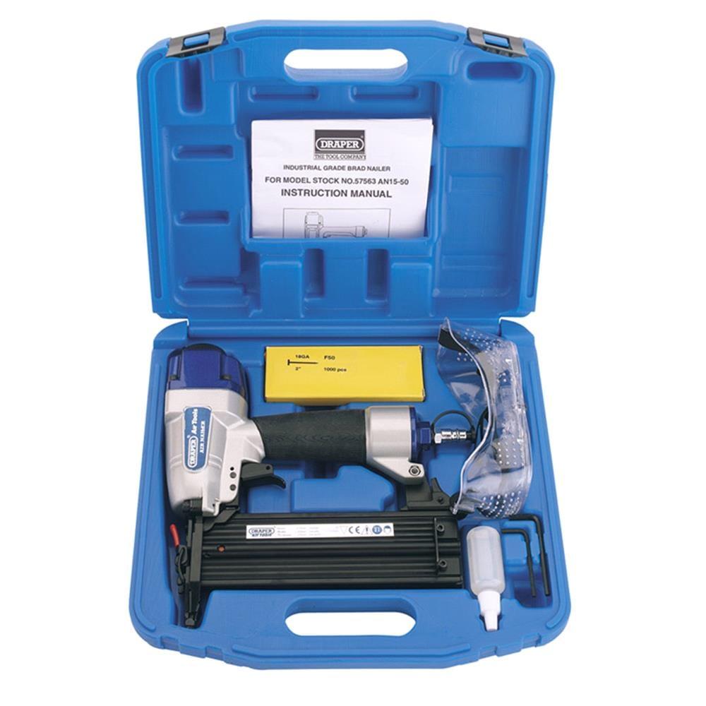 Draper 57563 Air Nailer Kit (15 50mm)