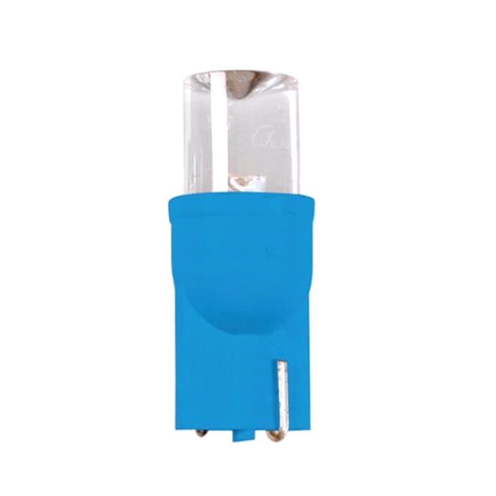 12V Colour Led Wide, lamp 1 Led   (T10)   W2,1x9,5d   2 pcs    D/Blister   Blue