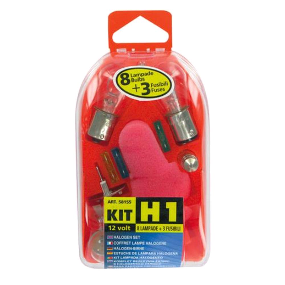 Spare lamps kit 11 pcs, 12V   H1 halogen