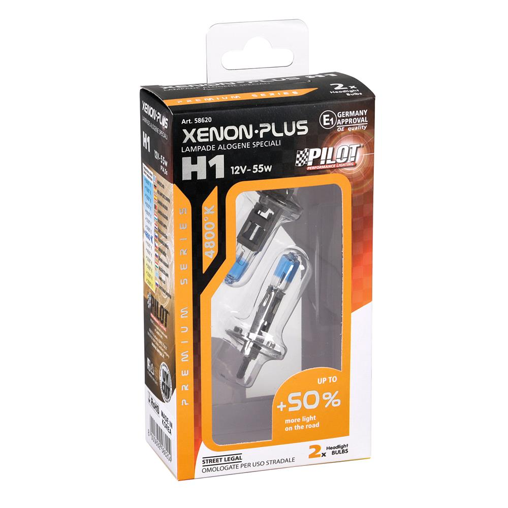 Pilot 50% Brighter H1 Bulb    Twin Pack