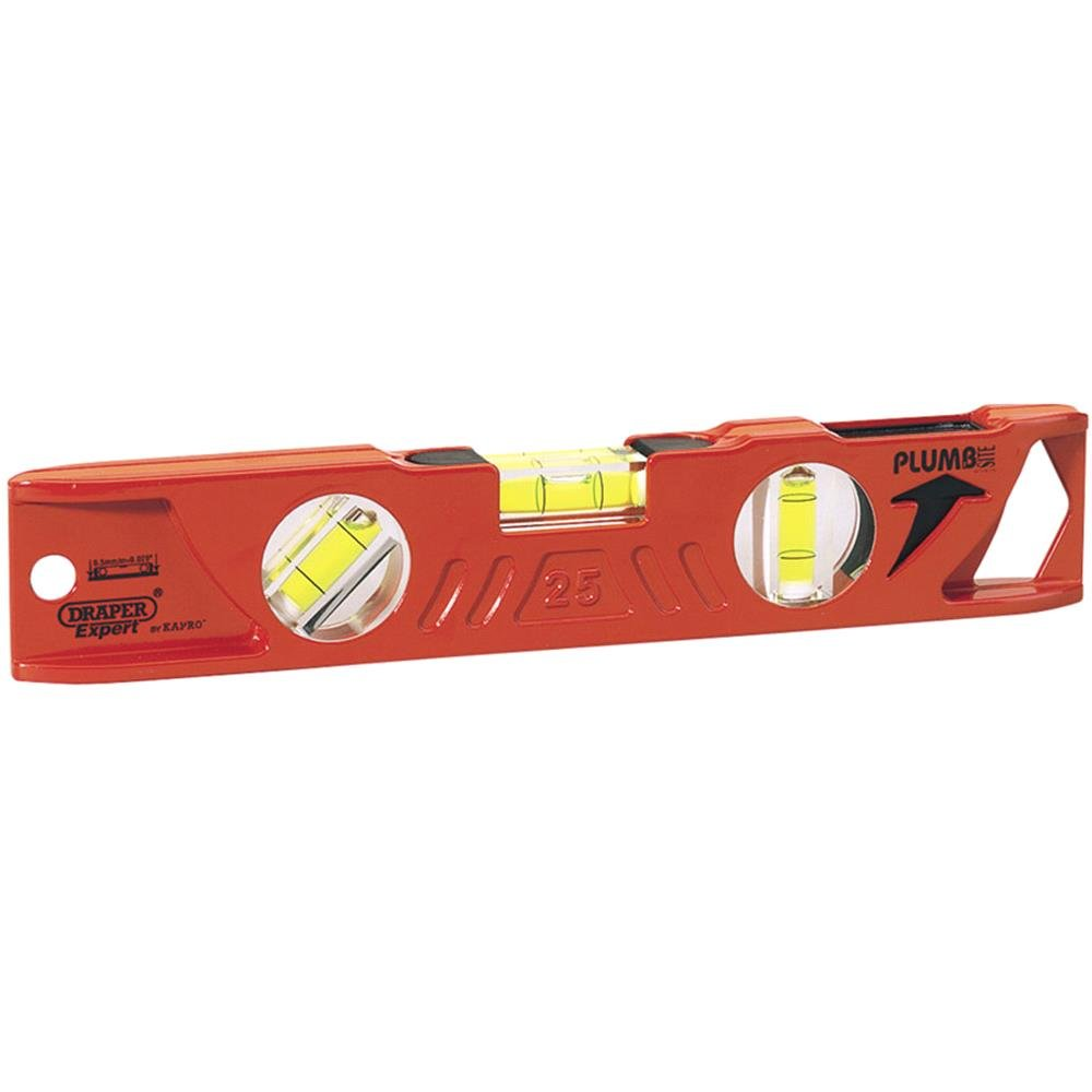 Draper Expert 69550 Side View Boat Spirit Level with Magnetic Base (250mm)