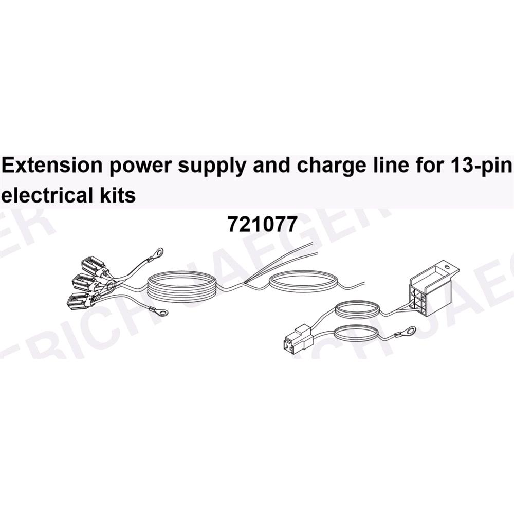 Erich Jager Tow bar extension charge line for 13pin electrics.