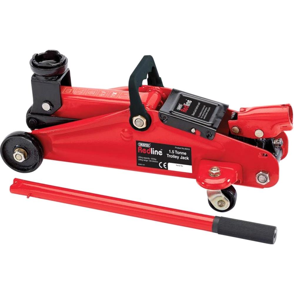 Draper Redline 80916 1.5 Tonne Light Duty Trolley Jack