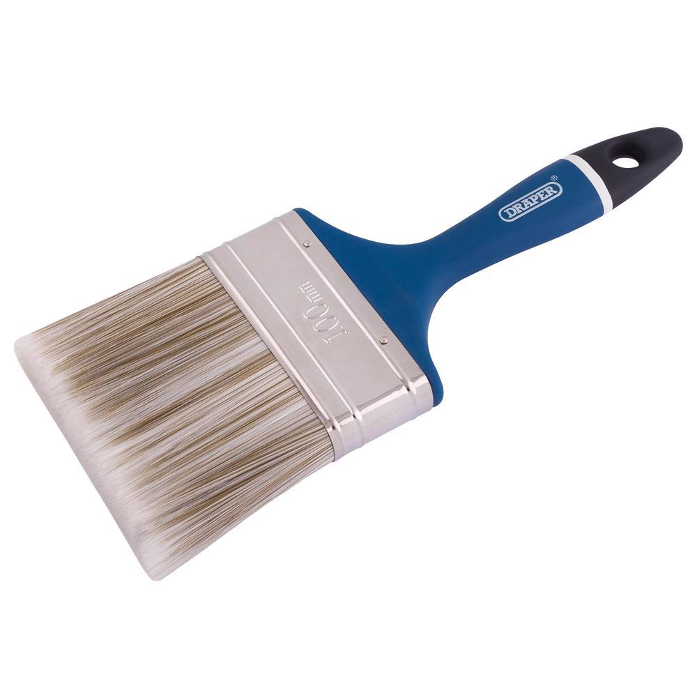 Draper 82494 Soft Grip Handle Paint Brush 100mm (4 inch)