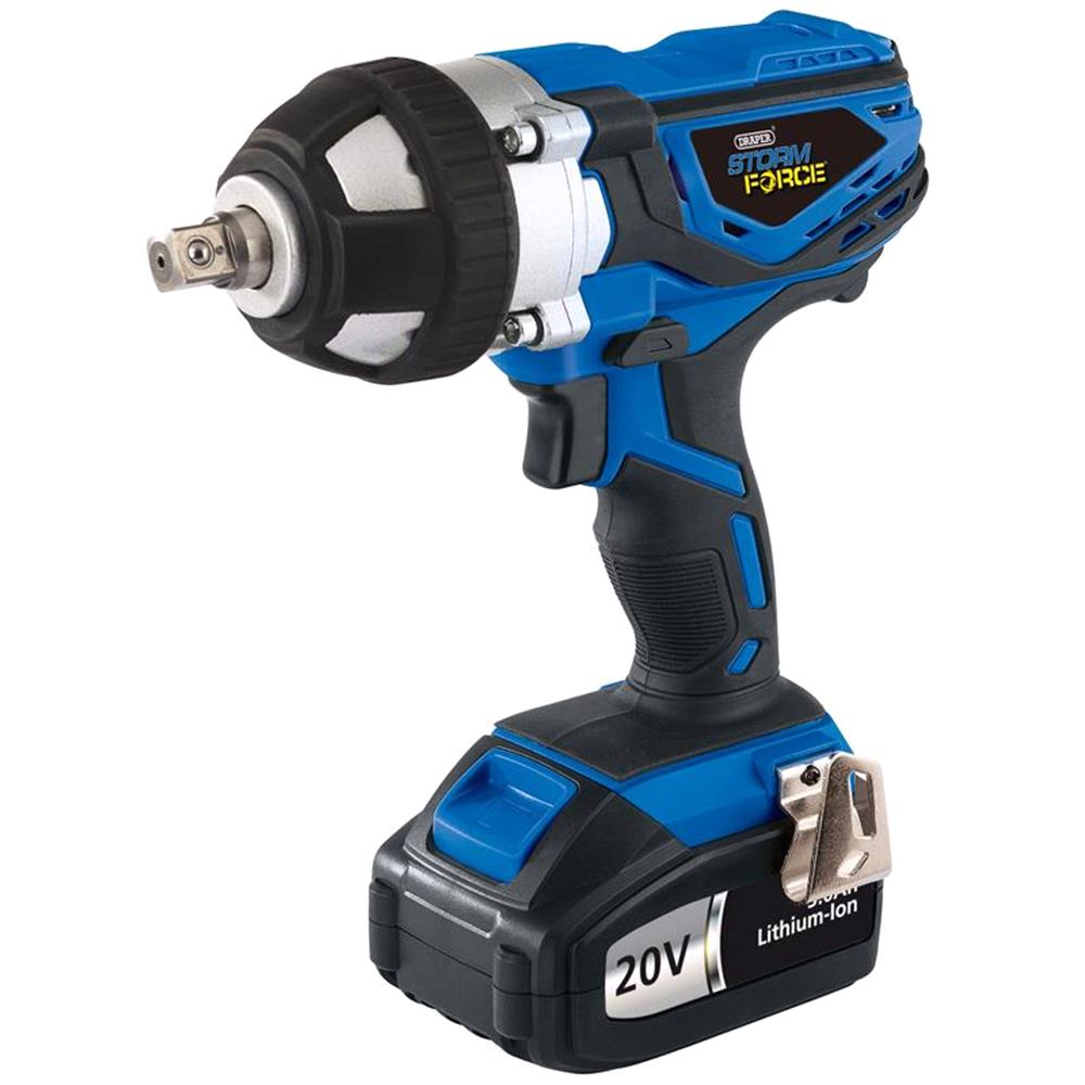 Draper Expert 82983 20v Cordless Impact Wrench With 1 Li Ion Battery 3 0ah