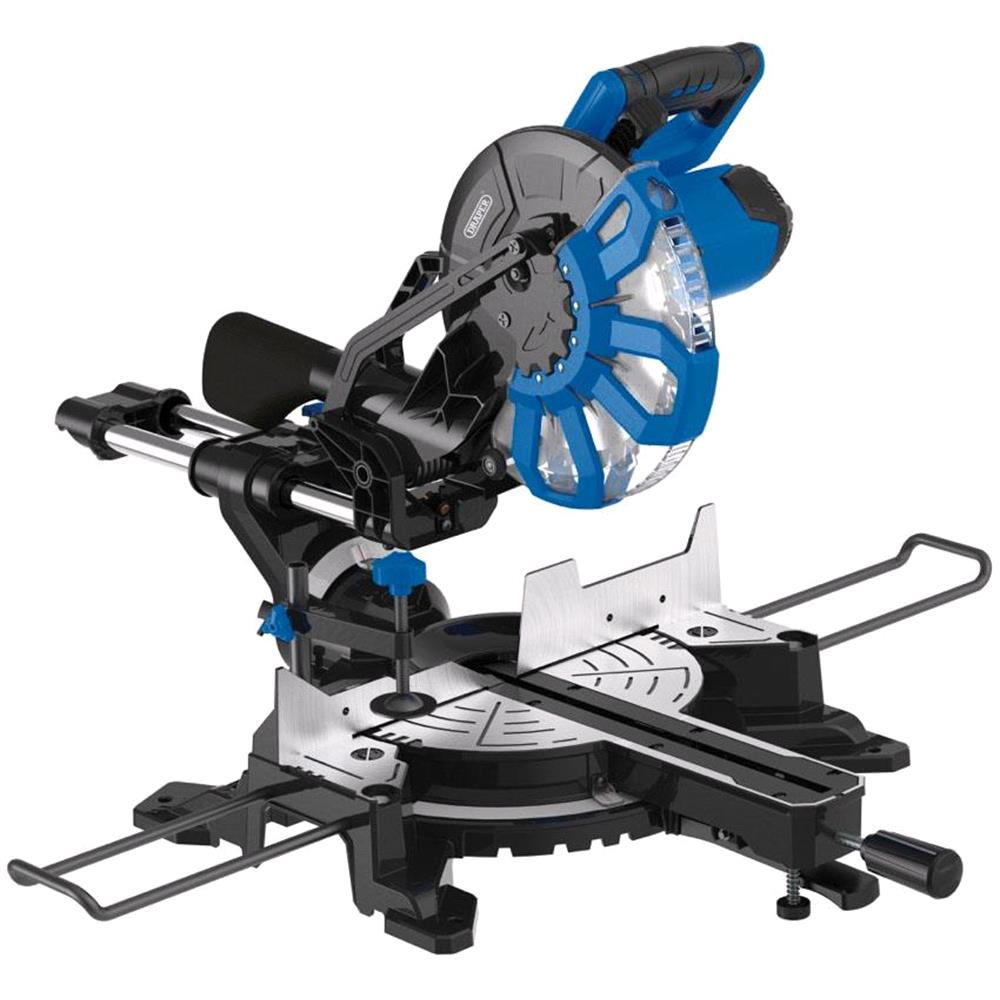 **Discontinued** Draper 83678 250mm Sliding Compound Mitre Saw with Laser Cutting Guide (2000W)