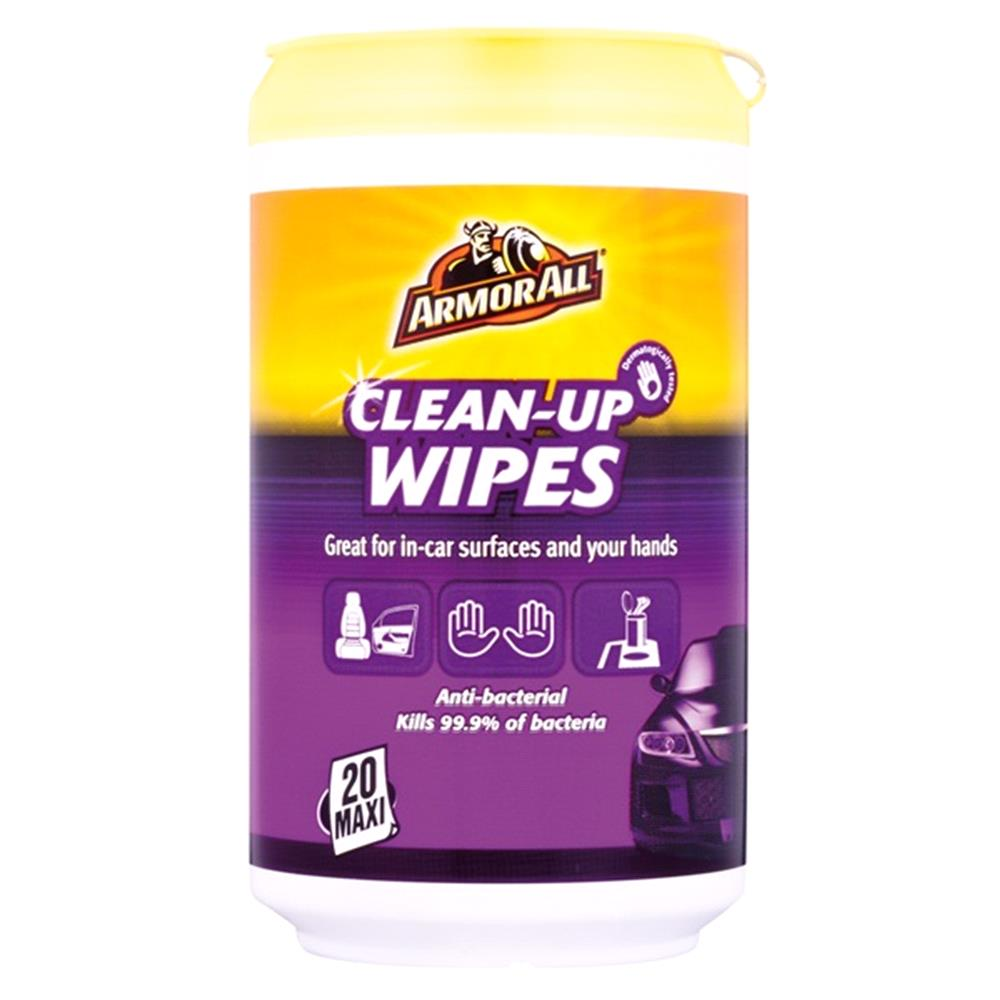 ArmorAll Anti Bacterial Clean up Wipes   Pack of 20