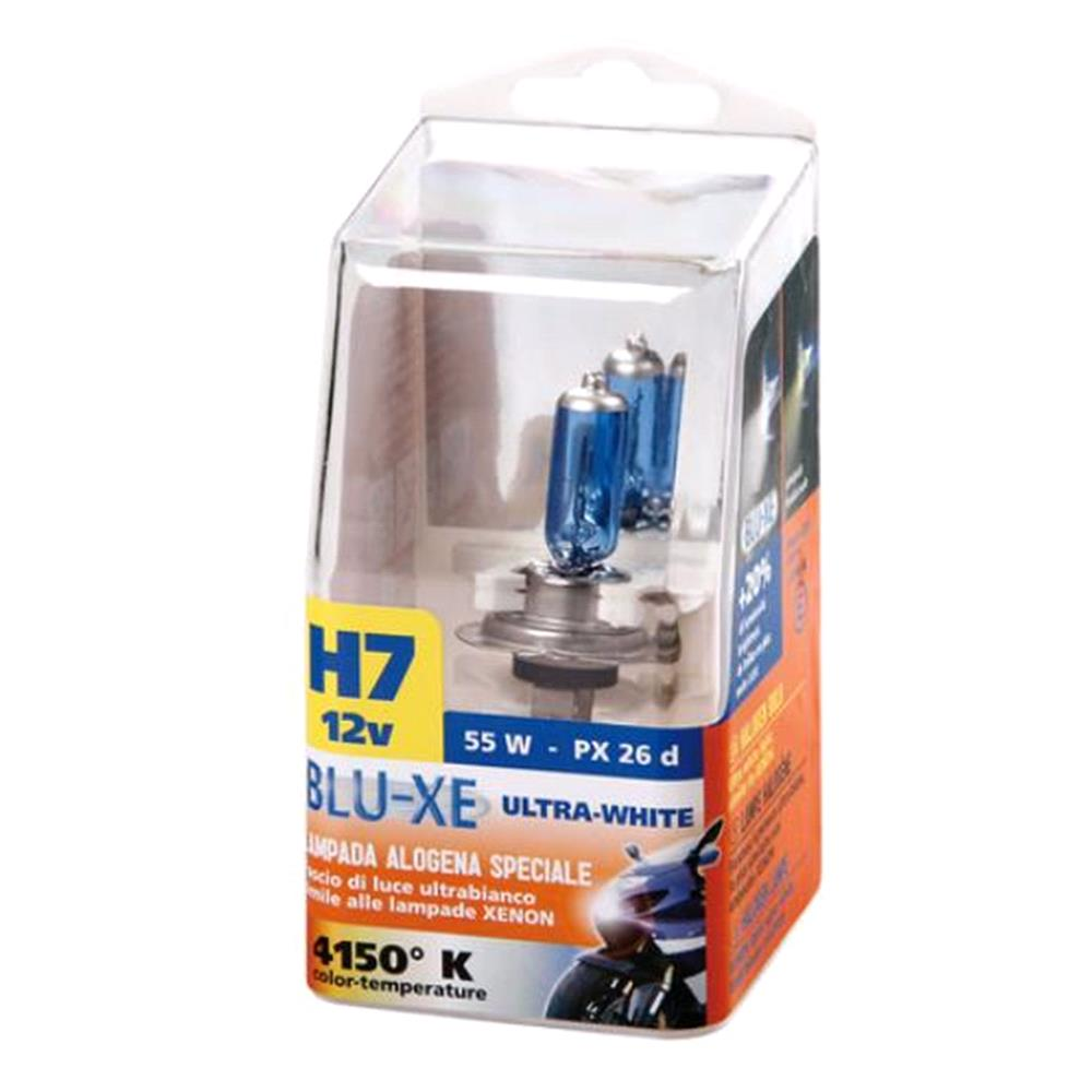 12V Blu Xe halogen lamp   H7   55W   PX26d   1 pcs    Box