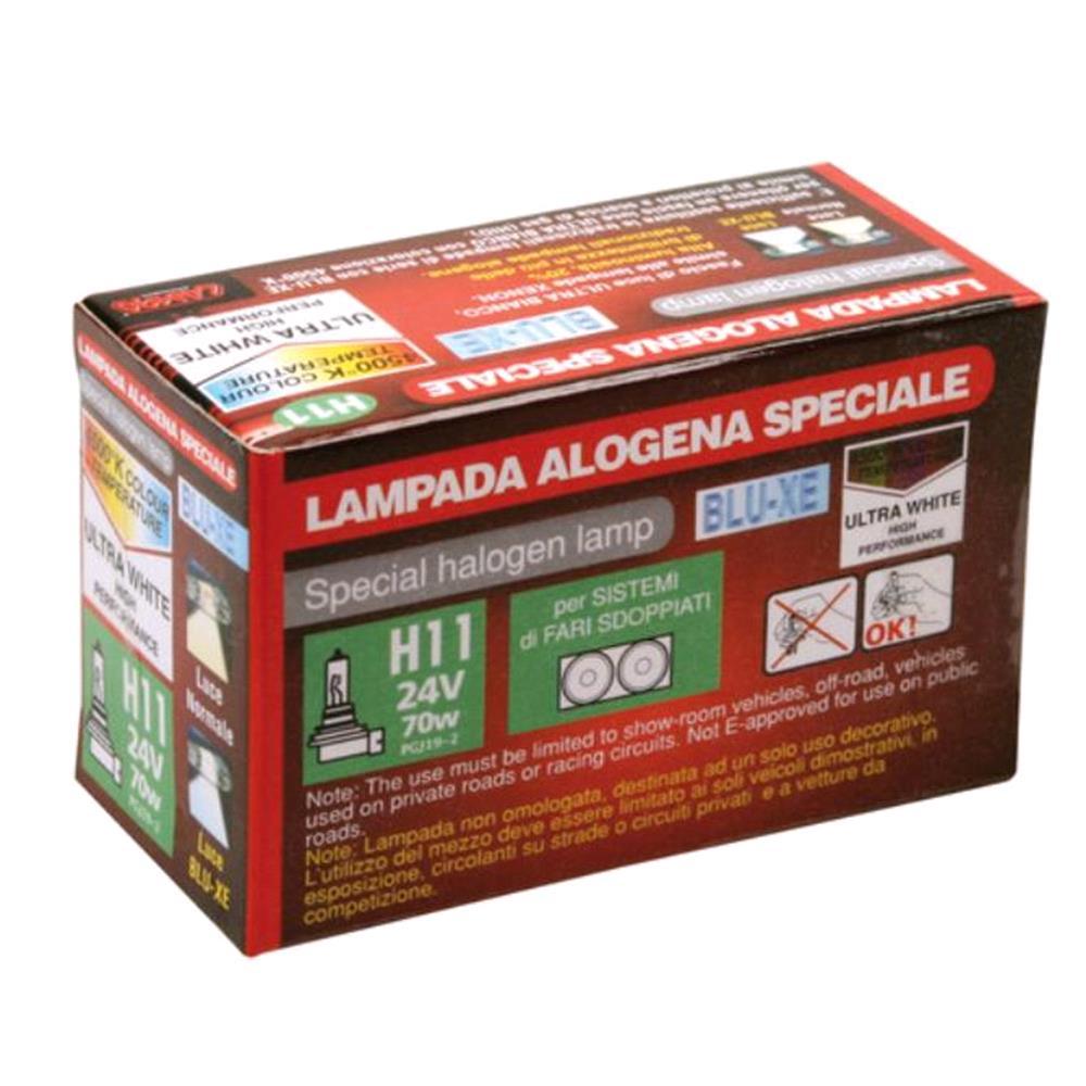 24V Blu Xe halogen lamp   H11   70W   PGJ19 2   1 pcs    Box