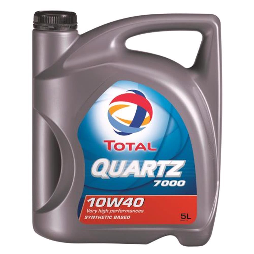 TOTAL Quartz 7000 10w40 Semi Synthetic Engine Oil  5 Litre