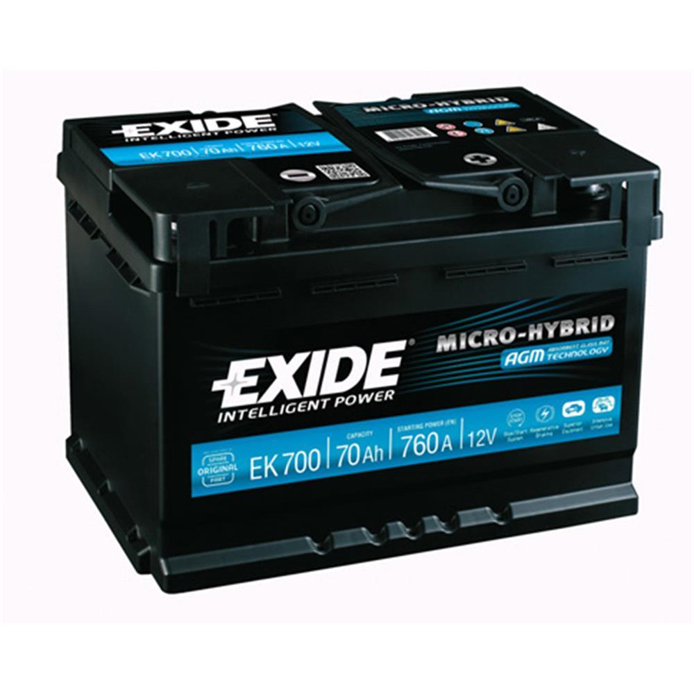 exide ek700 agm stop start battery 096 3 year guarantee. Black Bedroom Furniture Sets. Home Design Ideas