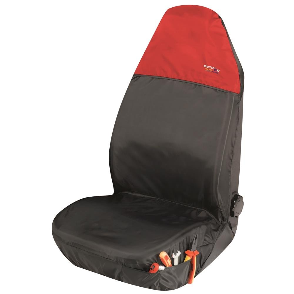 Universal Protective Car Seat Cover Outdoor Sports   Black & Red