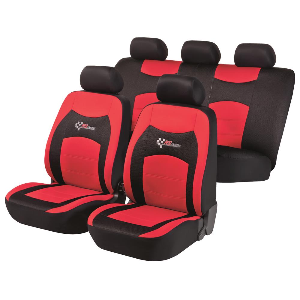 RS Racing Car Seat Cover Red Black For Kia RIO III Saloon 2011 Onwards