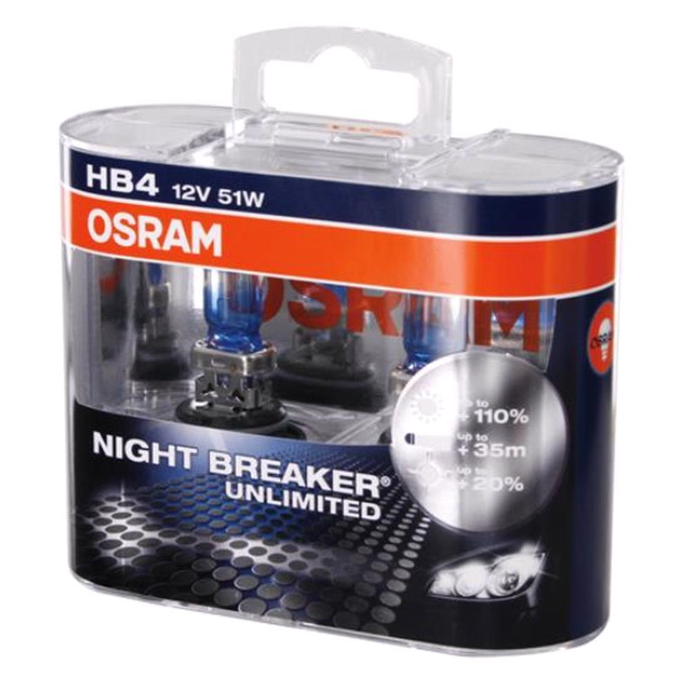 Osram Night Breaker Unlimited HB4 Bulb    Twin Pack