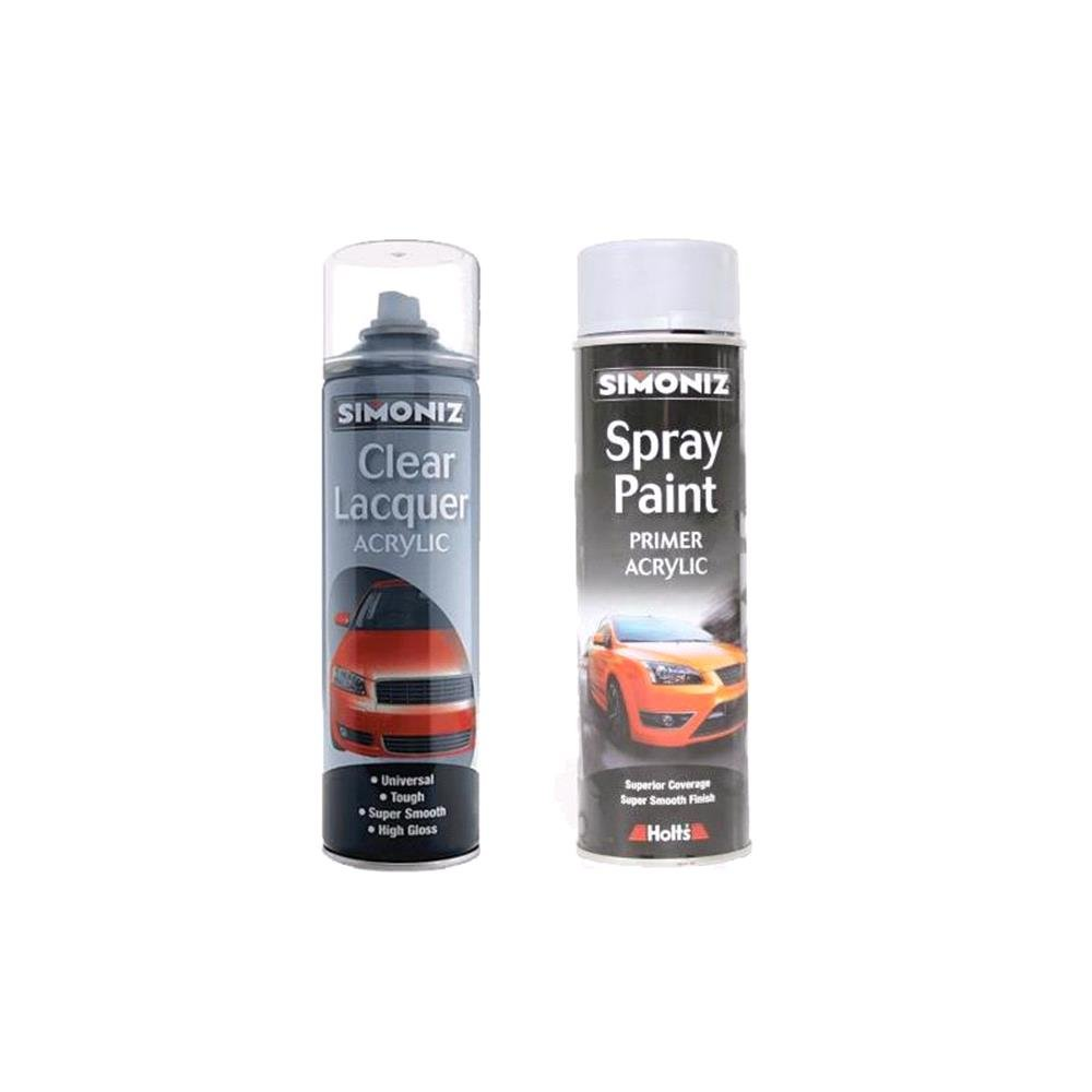 Simoniz Grey Primer and Clear Lacquer Kit