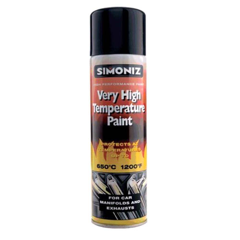 Simoniz Very High Temperature Paint   Black 500ml.