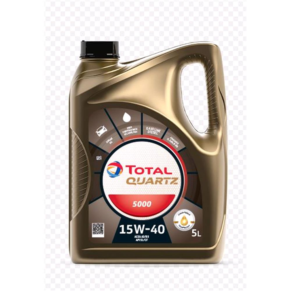 TOTAL Quartz 5000 15w40 Multigrade Mineral Engine Oil. 5 Litre
