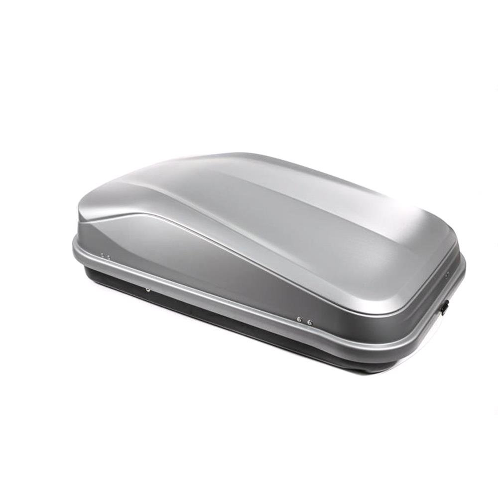 Junior Car Top Roof Box 420L in Gloss Grey Huge Storage