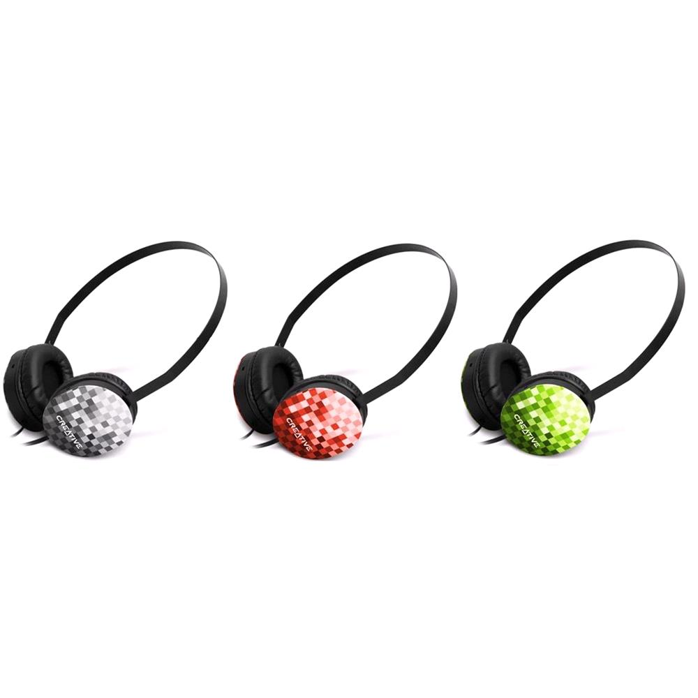 3 Sets of Creative Labs Lightweight Sport Headphones   Black, Red and Green