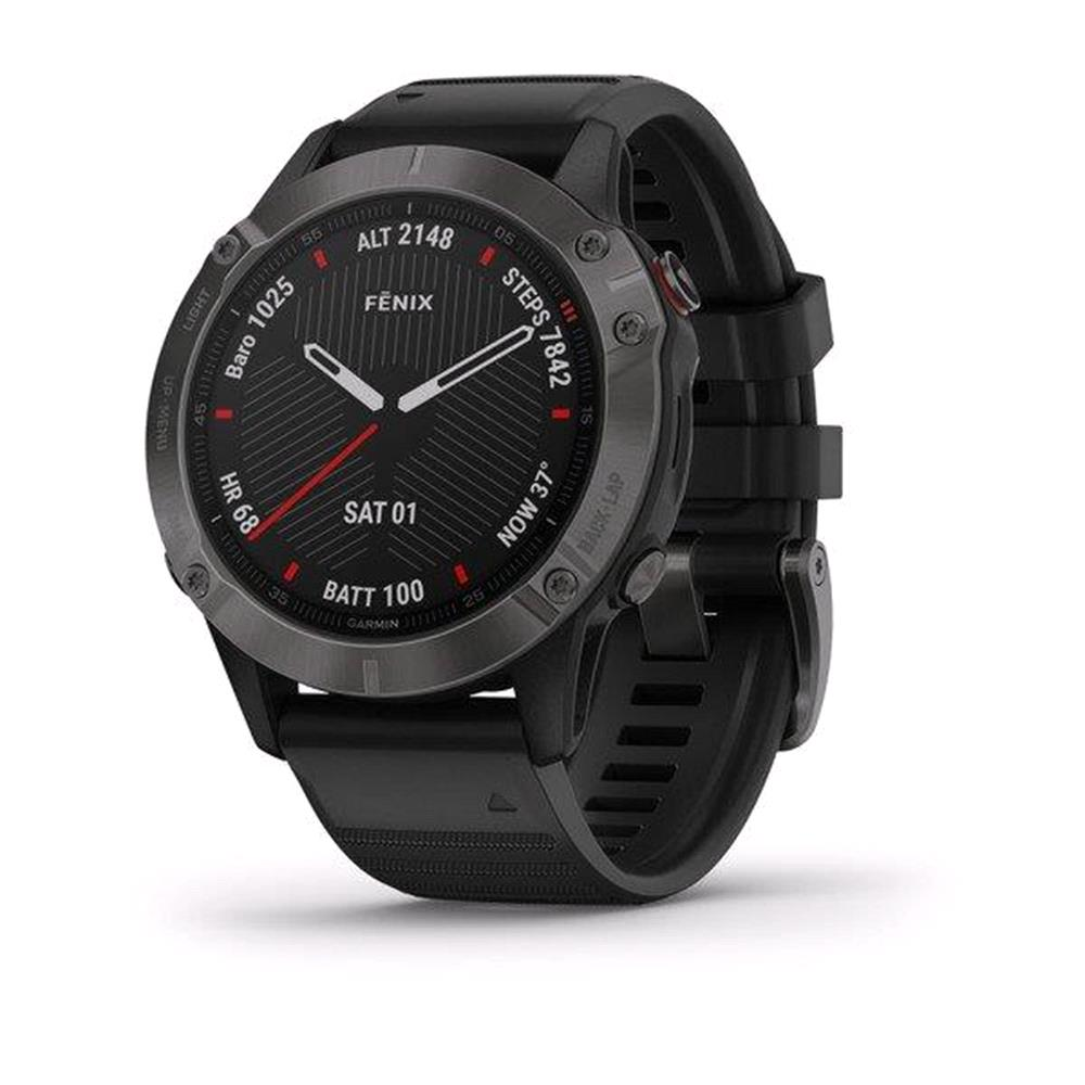 Garmin Fenix 6 Sapphire Carbon Gray with Black Band