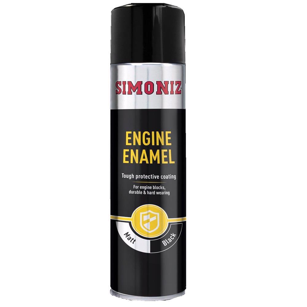 Simoniz Engine Enamel Paint   Mat Black 500ml.