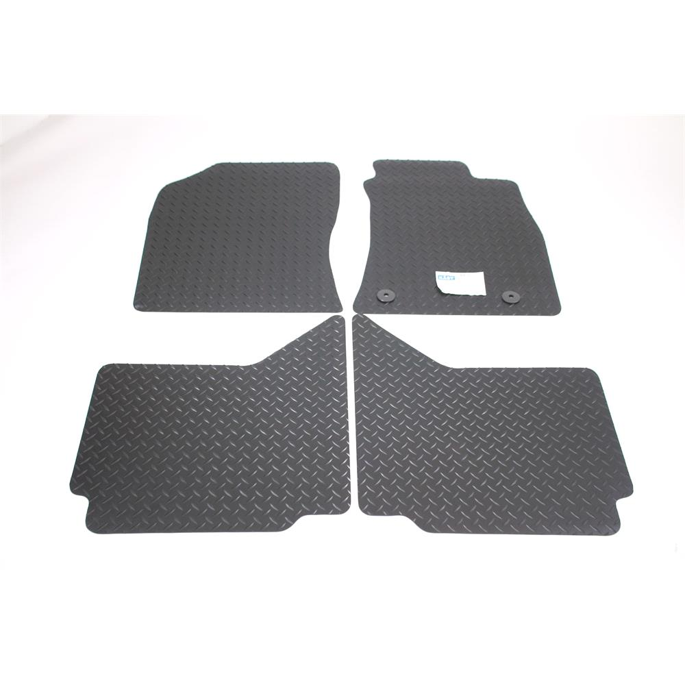 Fully Tailored Car Mats Toyota Hilux Pickup 2005 2011 Black Rubber 11mm
