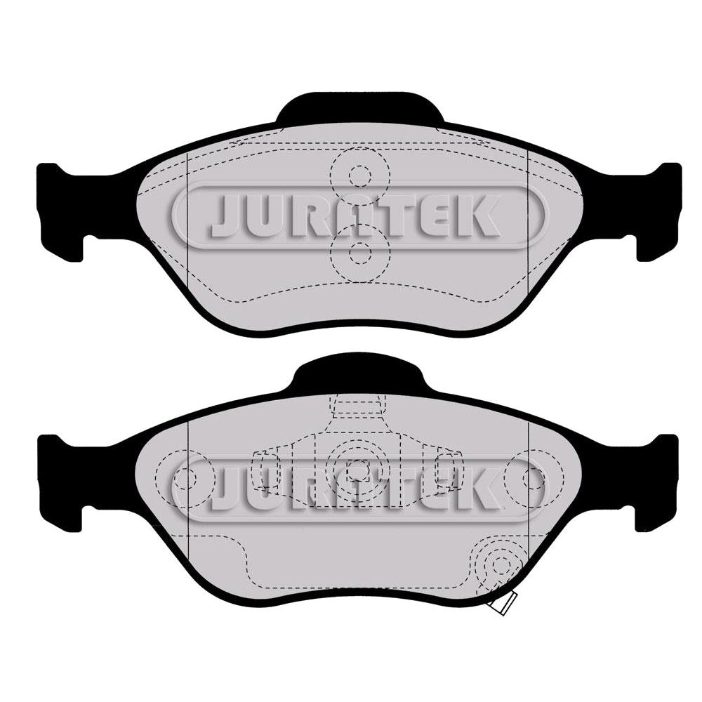 Lodal Front Axle Brake Shoes : Juratek front brake pads full set for axle jcp