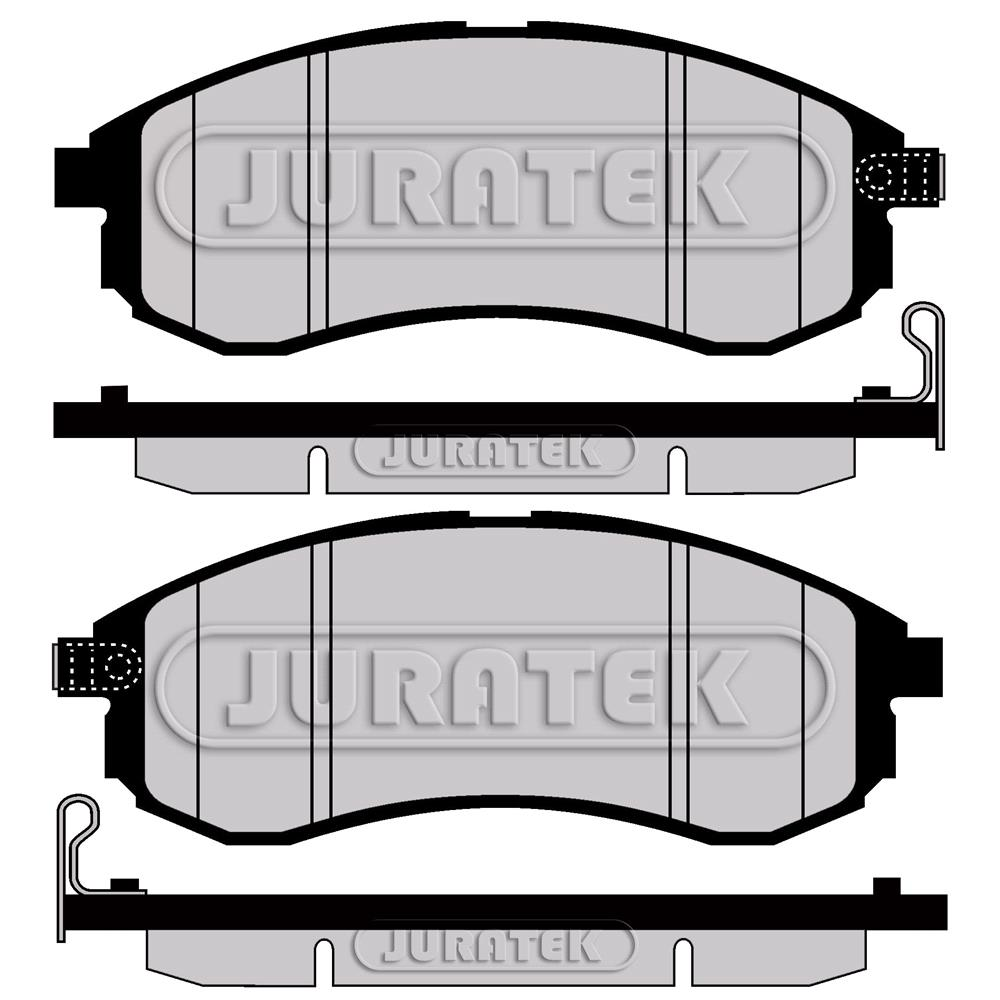 Lodal Front Axle Brake Shoes : Juratek front brake pads full set for axle