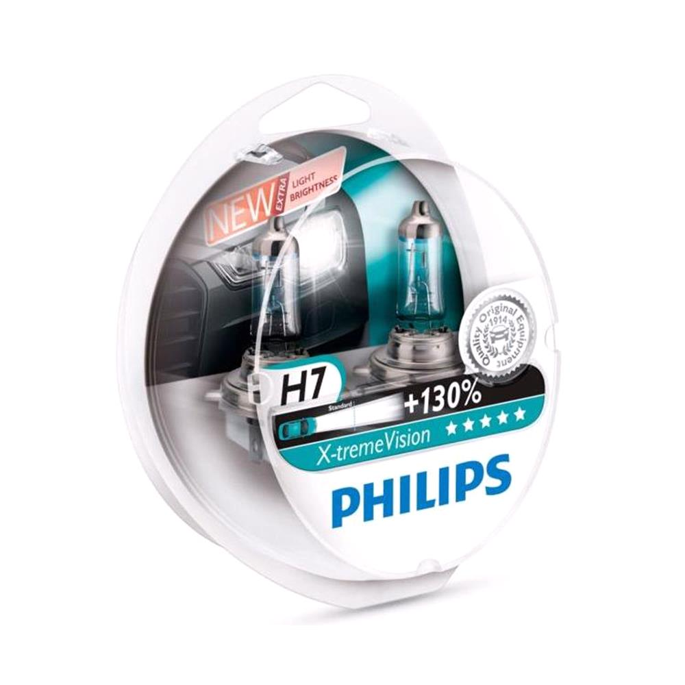 Philips X tremeVision H7 Bulbs( Pack) for Ssangyong Rexton Suv 2003 Onwards