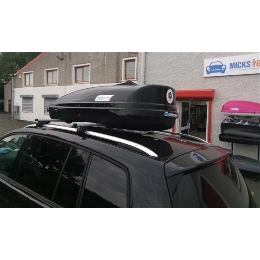 WEGO 450L Black Roof Box, Double side opening